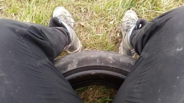 05 Novembre: petite pause sur mon pneu